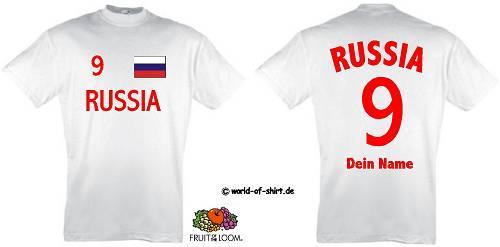 RUSSLAND-RUSSIA-T-SHIRT-TRIKOT-LOOK-ink-WUNSCHDRUCK