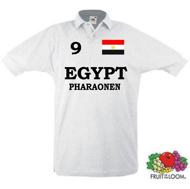 ÄGYPTEN EGYPT PHARAONEN POLO SHIRT IM TRIKOT LOOK 17