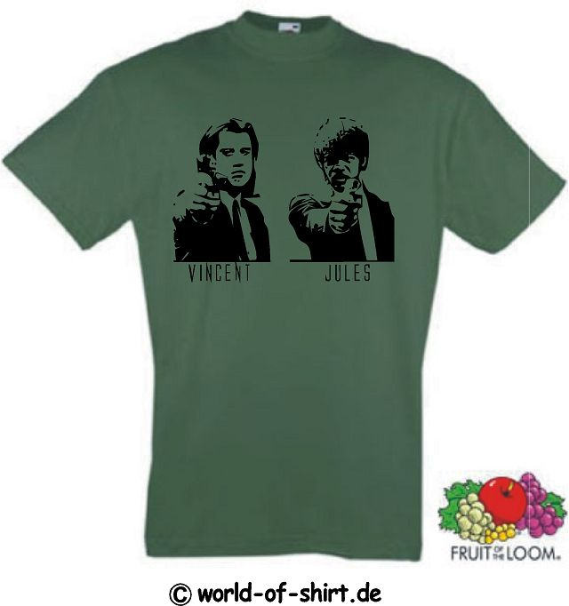 PULP FICTION T-SHIRT VINCENT & JULES TARANTINO KULT 4