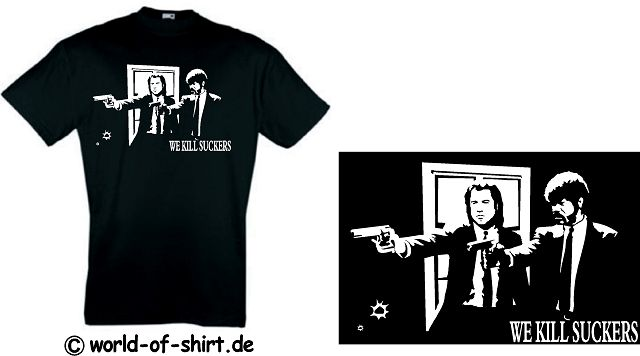PULP FICTION T-SHIRT TARANTINO WE KILL SUCKERS KULT 14