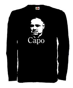 DON CORLEONE LONGSLEEVE SHIRT GODFATHER PATE S-XXL CAPO