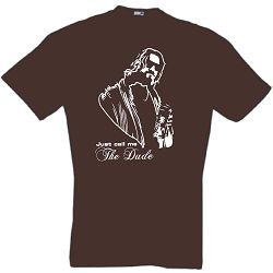 THE BIG LEBOWSKI T-SHIRT THE DUDE KULT BOWLING S-XXL (S br,XXL oliv; Ls)