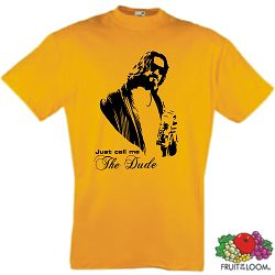 THE BIG LEBOWSKI T-SHIRT THE DUDE KULT WHITE RUSSIAN