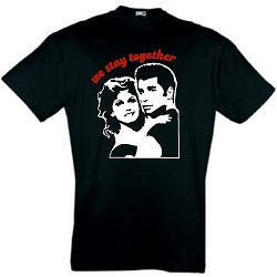 GREASE T-SHIRT RETRO PINK LADIES JOHN TRAVOLTA S-XXL