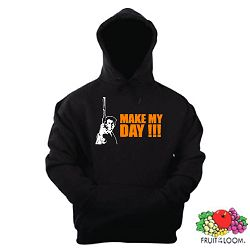 DIRTY HARRY KAPUZENSWEAT MAKE MY DAY EASTWOOD S-XXL