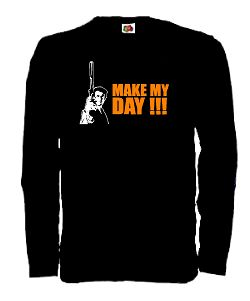 DIRTY HARRY LONGSLEEVE SHIRT MAKE MY DAY EASTWOOD S-XXL