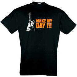 DIRTY HARRY T-SHIRT MAKE MY DAY CLINT EASTWOOD S-XXL
