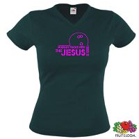 THE BIG LEBOWSKI JESUS GIRLIE T-SHIRT THE DUDE