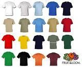 5 MARKEN T-SHIRTS FRUIT OF THE LOOM 165g/m² VON S-XXL