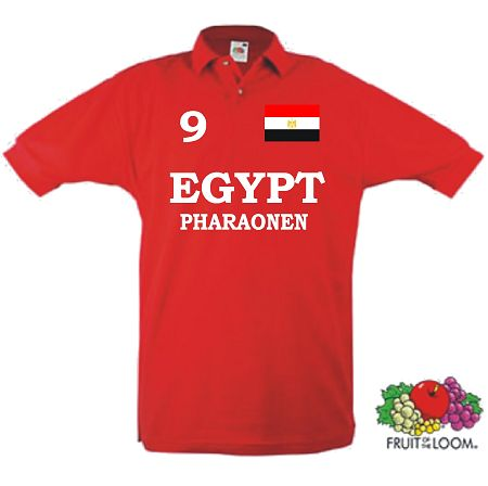 ÄGYPTEN EGYPT PHARAONEN POLO SHIRT IM TRIKOT LOOK 13
