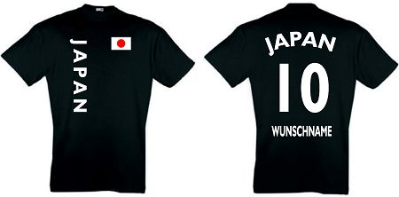 JAPAN KIDS 104-164 T-SHIRT TRIKOT inkl.NAMEN&NUMMER 10