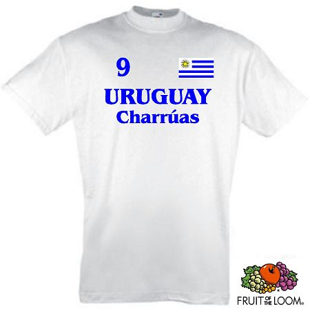 URUGUAY CHARRUAS KINDER T-SHIRT 104-164 TRIKOT LOOK 1