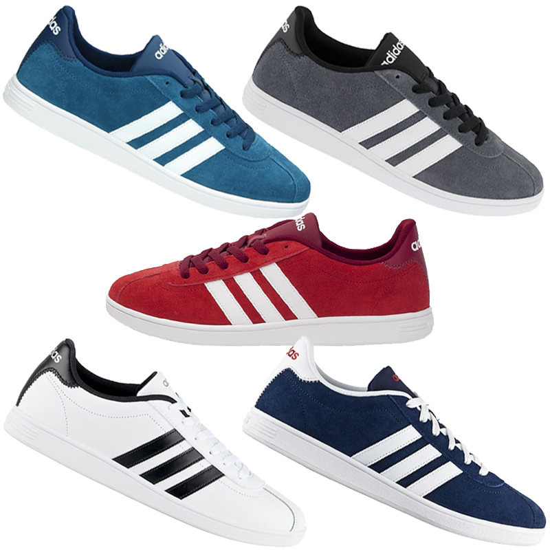 adidas vl court sneaker mens shoes retro trainers leather new gazelle samba ebay. Black Bedroom Furniture Sets. Home Design Ideas