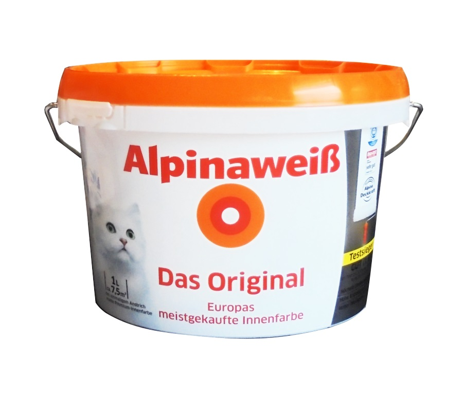 alpina alpinawei seidenlatex latexfarbe wandfarbe wei. Black Bedroom Furniture Sets. Home Design Ideas