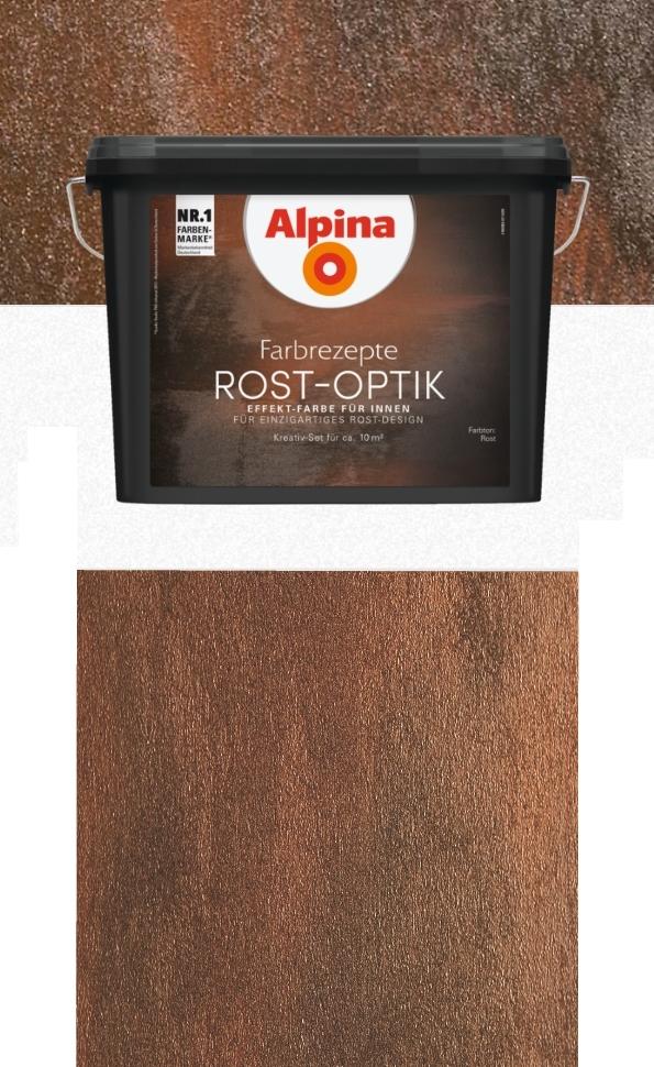 Alpina Farbrezepte 12 L Rostoptik Bis 10m² Set Rost Optik Effekt
