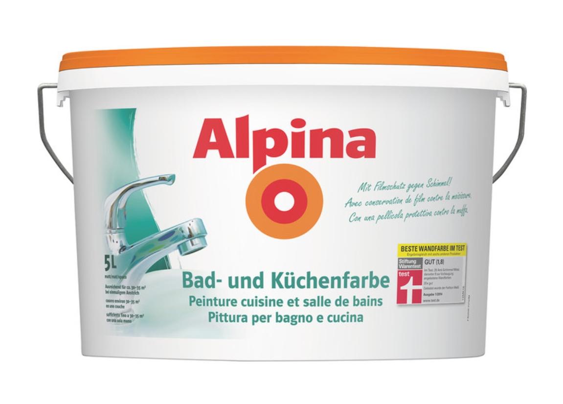 Alpina Farbrezepte Innenfarbe Wandfarbe matt, 2,5 L Grüne Poesie ...