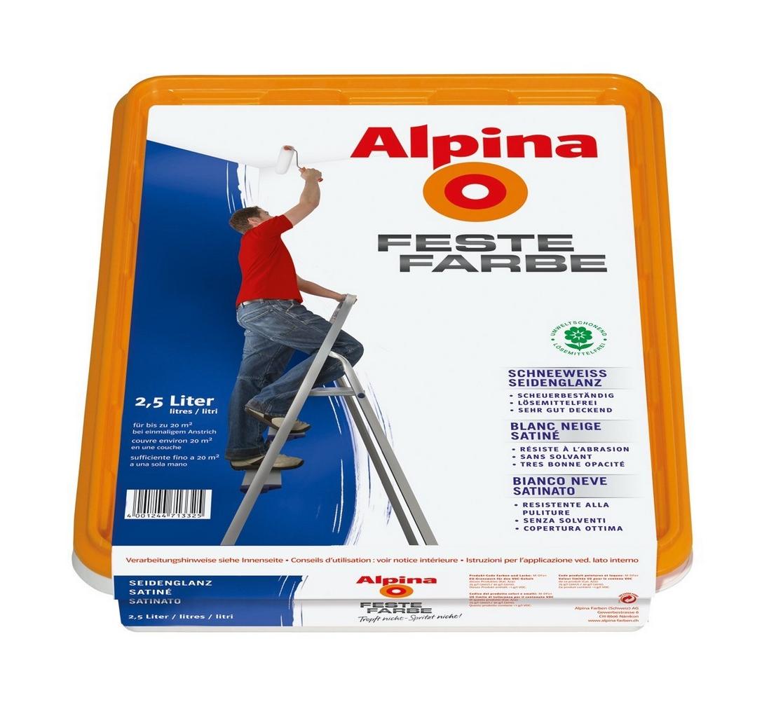 Alpina Bad Küchenfarbe: Alpina Spritz Frei Weiß Matt, 10 L. Spritzfrei Streichen
