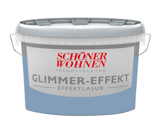 Schöner Wohnen Wandfarbe 1 Liter Glimmer-Effekt, Effektlasur, Silber ...