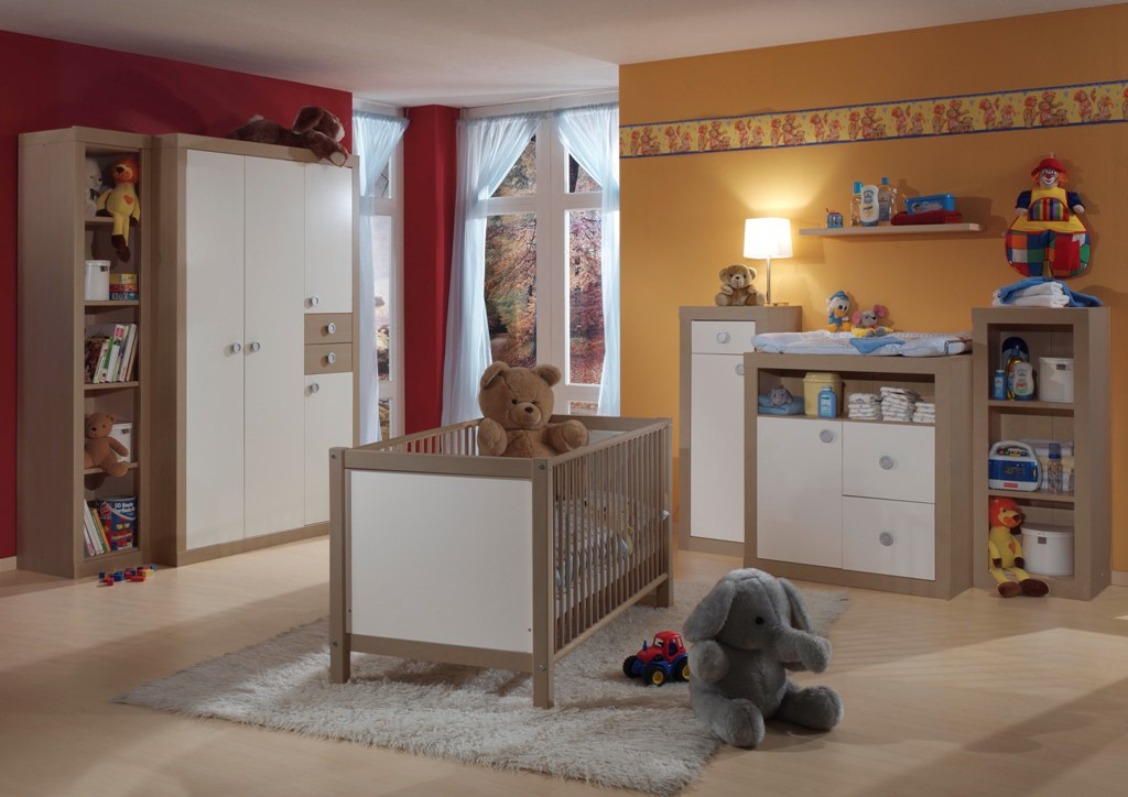 sofort lieferbar 6 tlg babyzimmer kinderzimmer wei. Black Bedroom Furniture Sets. Home Design Ideas