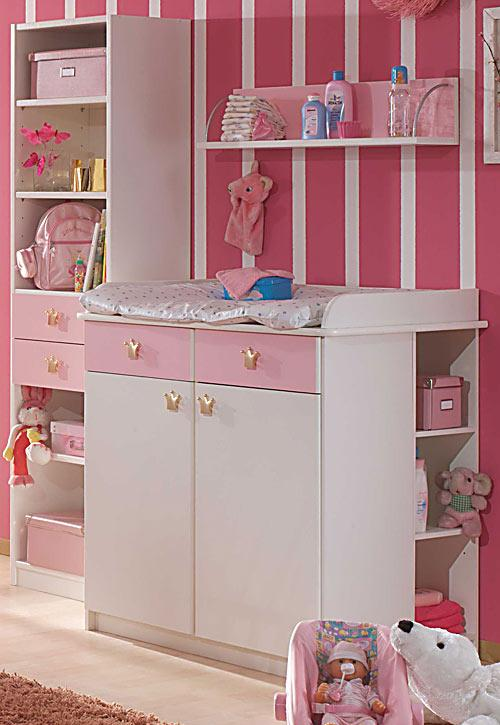 3tlg babyzimmer komplettset cinderella bett wickelkommode. Black Bedroom Furniture Sets. Home Design Ideas