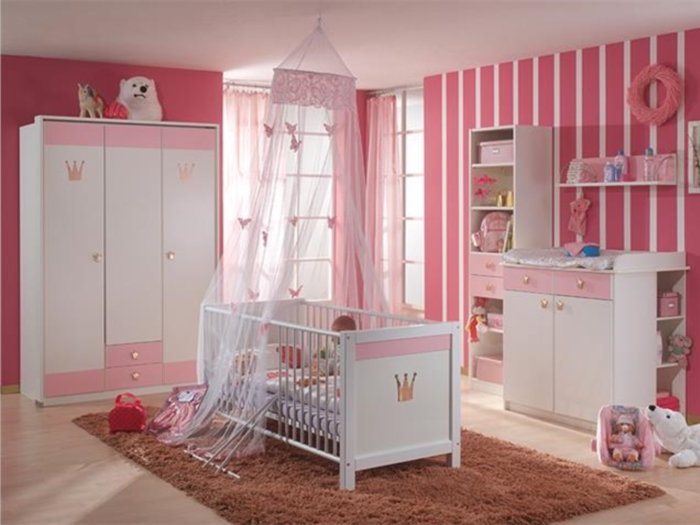 top angebot babyzimmer kinderzimmer cinderella rosa schrank bett setauswahl. Black Bedroom Furniture Sets. Home Design Ideas