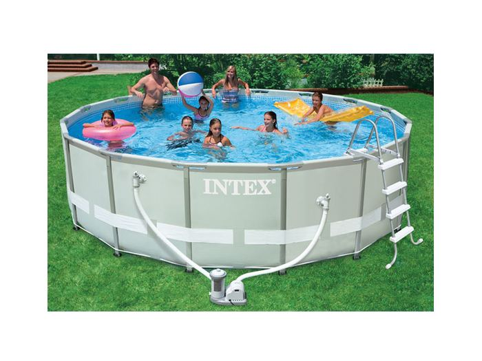 ultra frame swimming pool 488x122 komplettset schwimmbad 54452 intex neu 107943 ebay. Black Bedroom Furniture Sets. Home Design Ideas
