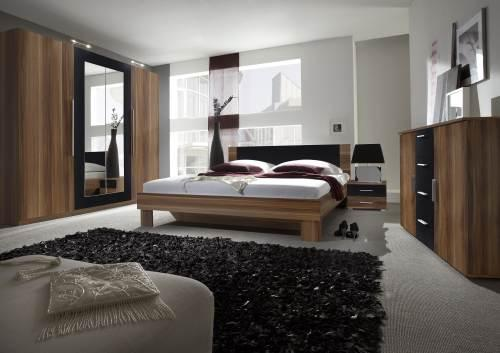 sofort lieferbar schlafzimmer komplett bett schrank vera nuss 108377. Black Bedroom Furniture Sets. Home Design Ideas