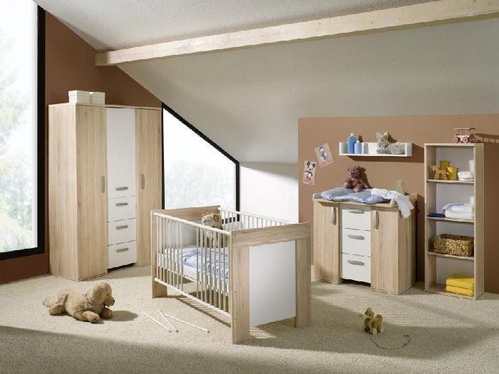 6tlg babyzimmer kinderzimmer komplettset bett schrank wickelkommode michi 108718 ebay - Kinderzimmer michi ...