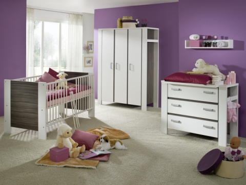 babyzimmer komplett baby bett schrank schlafzimmer 8749 ebay. Black Bedroom Furniture Sets. Home Design Ideas