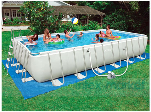 Ultra frame swimming pool 732x366x132 piscina for Ebay piscinas