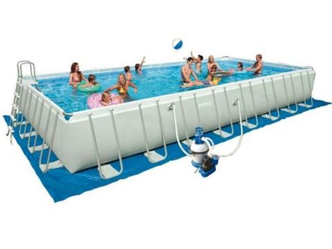 Pool reinigungsset g nstig kaufen for Frame pool obi