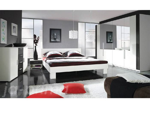 top angebot schlafzimmer kleiderschrank schrank bett linda 2 tlg 108992. Black Bedroom Furniture Sets. Home Design Ideas
