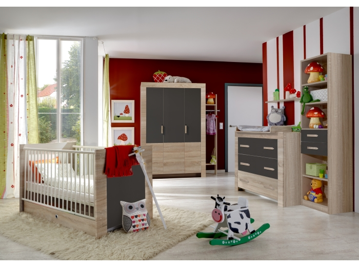 babyzimmer emily baby babybett wickelkommode schrank. Black Bedroom Furniture Sets. Home Design Ideas