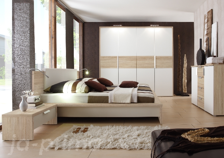 absolute neuheit schlafzimmer schrank bett eco sonoma eiche 109075 ebay. Black Bedroom Furniture Sets. Home Design Ideas