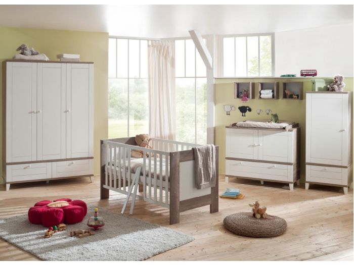 6tlg babyzimmer baby komplettset wickelkommode schrank. Black Bedroom Furniture Sets. Home Design Ideas
