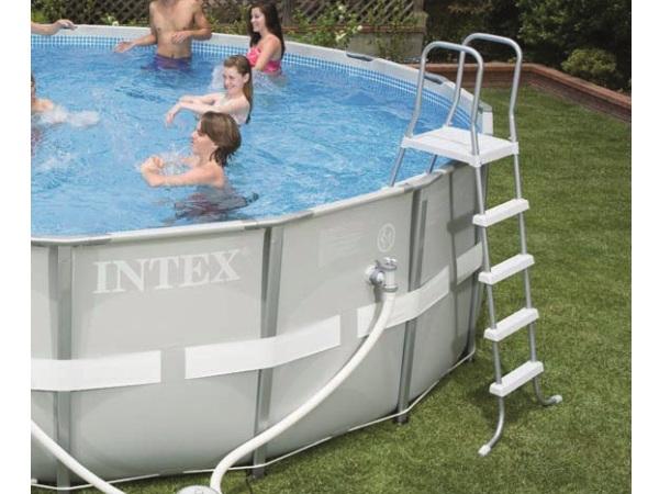 intex 28332 ultra frame pool 549 x 132 cm komplettset swimmingpool ebay. Black Bedroom Furniture Sets. Home Design Ideas