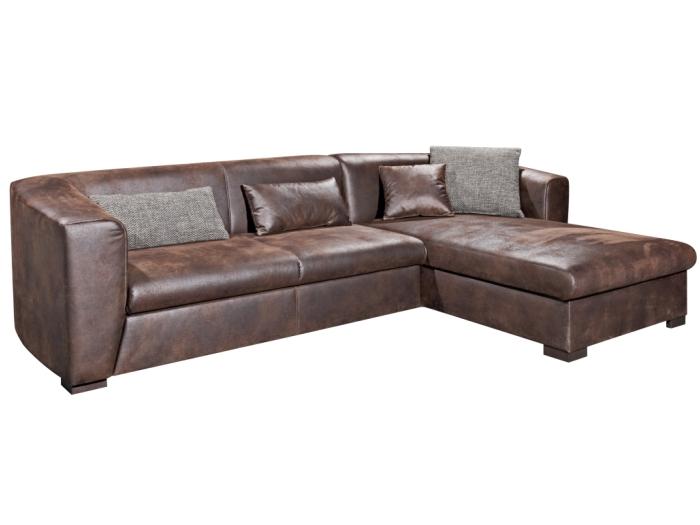 polsterecke schlaffunktion sofa couch sitzecke leder ecksofa garnitur 09415 ebay. Black Bedroom Furniture Sets. Home Design Ideas