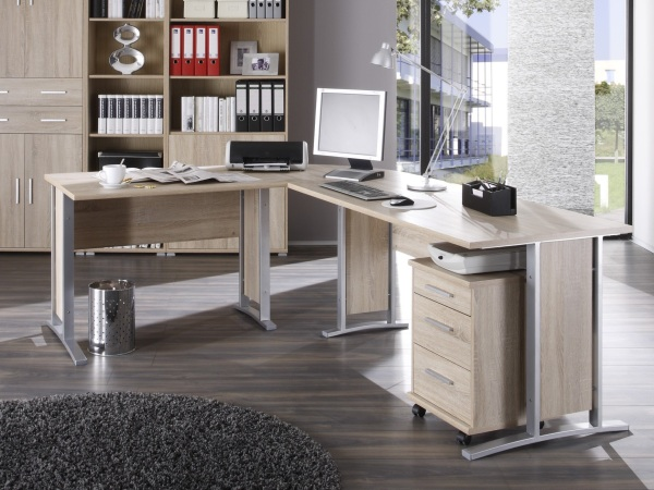 b ro office line megaset b rom bel komplettset eiche schreibtisch regale 109567 ebay. Black Bedroom Furniture Sets. Home Design Ideas