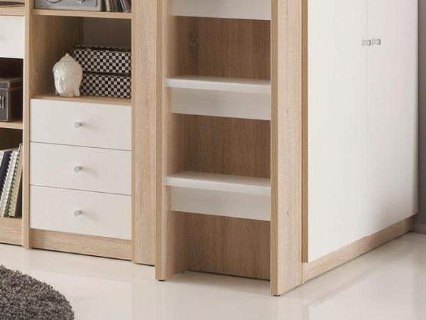 hochbett kombination unit kinderzimmer kleiderschrank. Black Bedroom Furniture Sets. Home Design Ideas