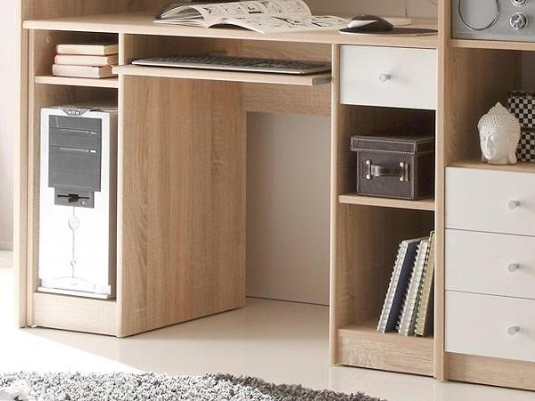 hochbett kombination unit kinderzimmer kleiderschrank schreibtisch komplett 9605 ebay. Black Bedroom Furniture Sets. Home Design Ideas