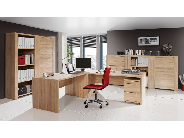 b ro office line set ii b rom bel komplett komplettb ros eiche sonoma. Black Bedroom Furniture Sets. Home Design Ideas