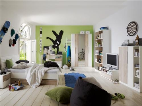 Jugendzimmer cloud 9 teilig jugendbett kleiderschrank for Jugendzimmer 9 teilig