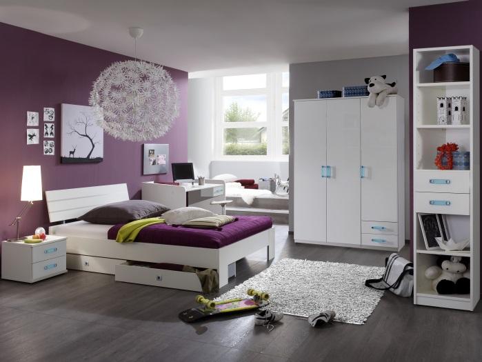 Jugendzimmer kara 6 teilig kleiderschrank jugendbett for Jugendzimmer ohne kleiderschrank