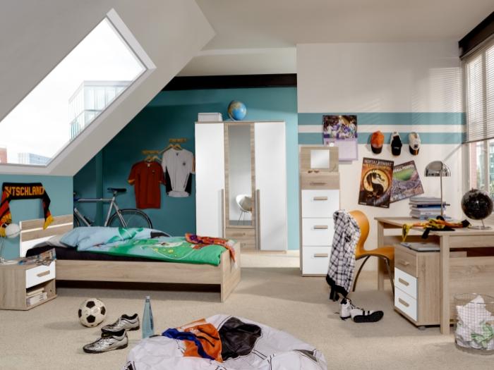 Jugendzimmer mona 6 teilig kleiderschrank jugendbett for Jugendzimmer 6 teilig
