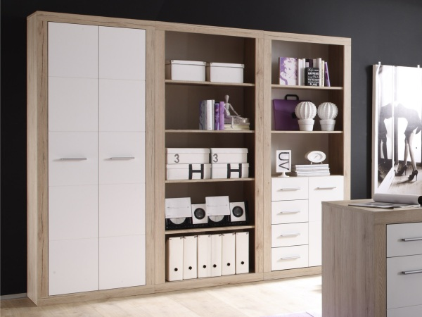 b ro m bel komplett set office pro i schreibtisch schrank regale kommode 109682 ebay. Black Bedroom Furniture Sets. Home Design Ideas