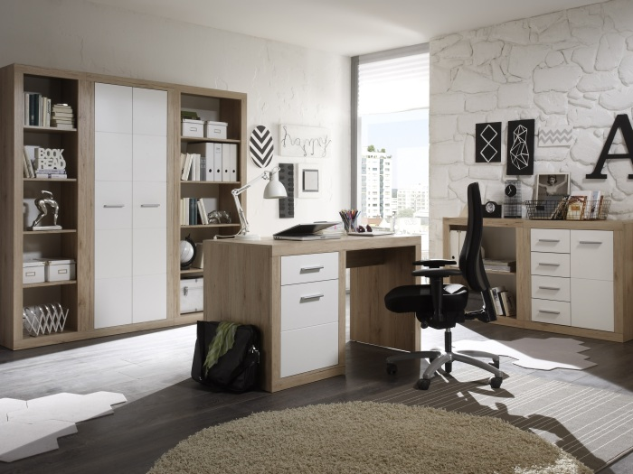 b ro m bel komplett set office pro ii schrank regale schreibtisch kommode 109683 ebay. Black Bedroom Furniture Sets. Home Design Ideas