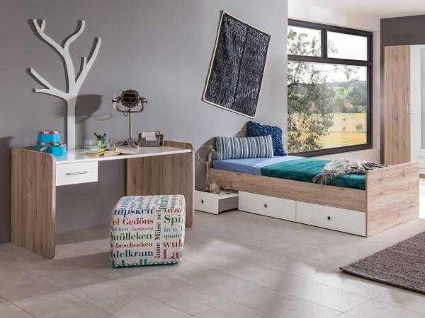 Jugendzimmer lenny 4 teile mit funktionsbett schreibtisch for Jugendzimmer 4tlg