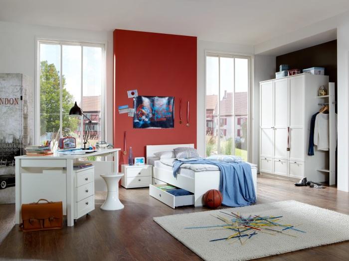 jugendzimmer filou wei kleiderschrank bett schreibtisch rollcontainer 109734 ebay. Black Bedroom Furniture Sets. Home Design Ideas