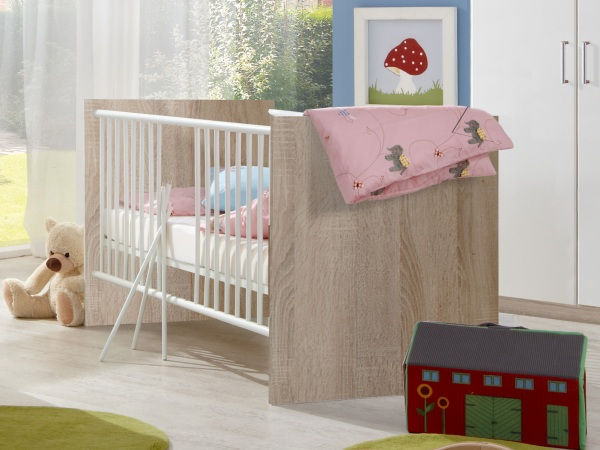 babyzimmer nicki 4 teile komplettset babybett schrank. Black Bedroom Furniture Sets. Home Design Ideas
