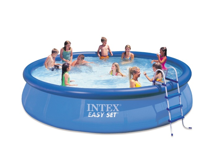 intex quick up pool 457 x 122 cm schwimmbecken swimmingpool poolfolie 109779 ebay. Black Bedroom Furniture Sets. Home Design Ideas